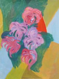 Une attentive floraison - acrylique - 116*89